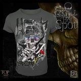 Hotspot design  Spinner skull T-shirt_
