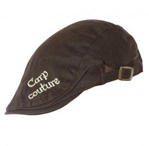 Carp Couture Cheesecutter flat cap Brown/Khaki