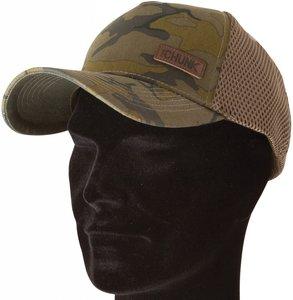FOX CHUNK CAMO TRUCKER CAP BROWN BADGE