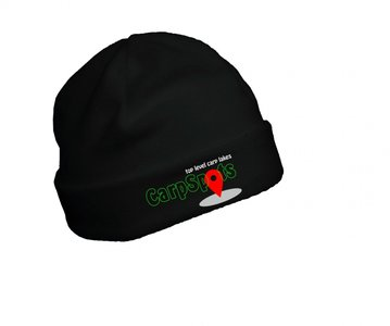 CarpSpots Fleece Beanie Black