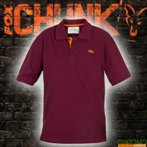 FOX CHUNK POLO SHIRT BURGUNDY