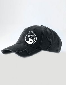 J.M.C. Heavy worn logo Cap black / Military Green