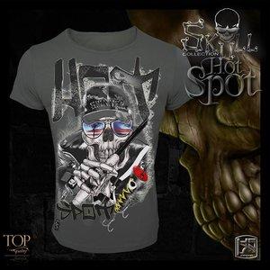 Hotspot design  Spinner skull T-shirt