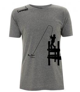 RIVERKINGS  T-shirt  Grey  Zwarte print