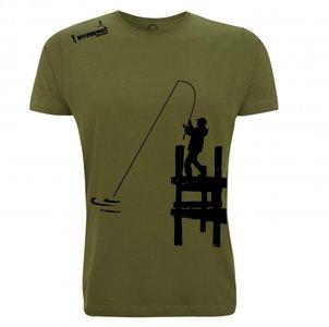 RIVERKINGS  T-shirt  Olive  Fluo Zwarte  print