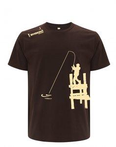 RIVERKINGS  T-shirt  Chocolate Beige  print