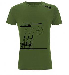 RIVERKINGS  T-shirt  Carp fishing  Zwarte  print