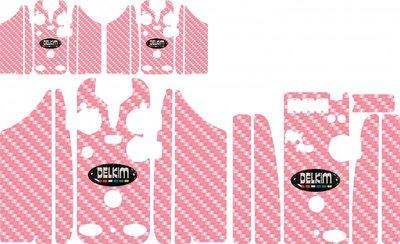 Pink Delkim Carbon Skinz