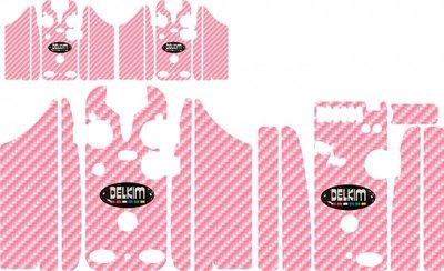 Multi Pink Delkim Carbon Skinz