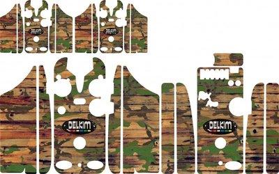 Camo Wood Delkim Carbon Skinz