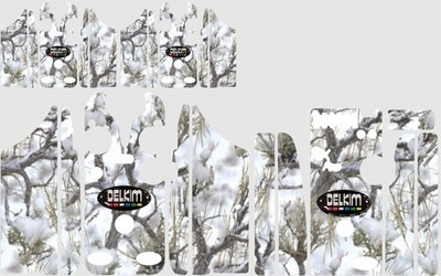 Reel Tree Winter Camouflage Skinz