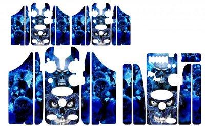 Blue skulls Skinz