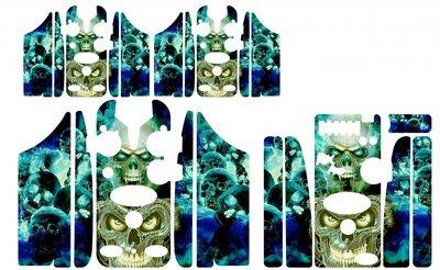 Multi Color skulls Skinz
