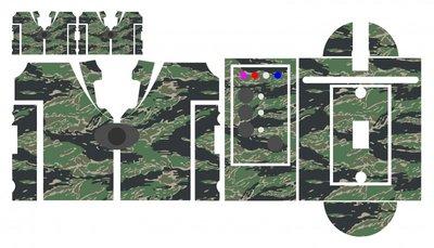 Nash SR1 Tiger camouflage skinz