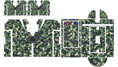 Nash SR1 Digital camouflage skinz
