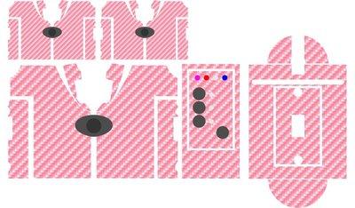 Nash SR1 Pink Carbon skinz