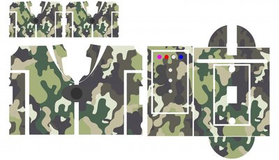 Nash SR1 Forrest camouflage skinz