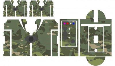 Nash SR1 multi cam camouflage skinz