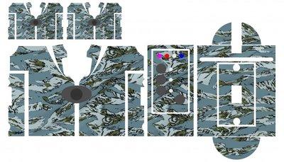 Nash SR1 Grey Tiger camouflage skinz