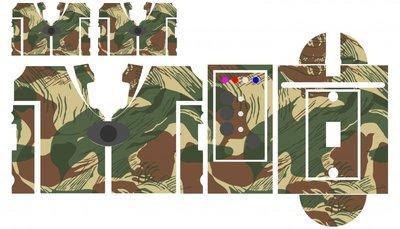 Nash SR1 Tropical Tiger camouflage skinz