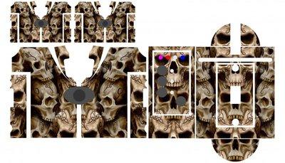 Nash SR1 Bone Skulls  skinz
