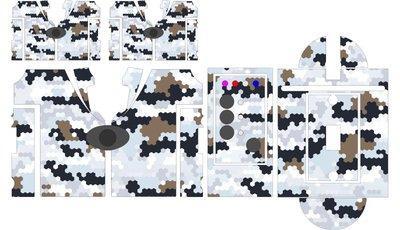 Nash SR1 Hexacon Winter camouflage skinz