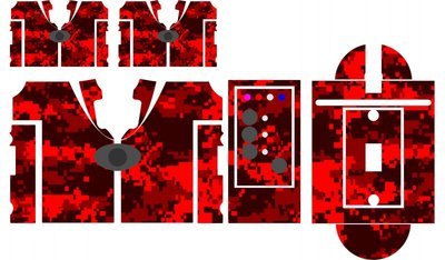 Nash SR1 Red Digital camouflage skinz