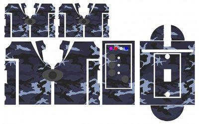 Nash SR1 Blue Commando camouflage skinz