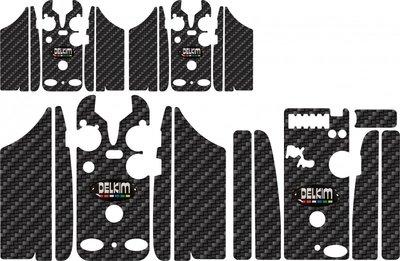 Black HD Delkim Carbon Skinz