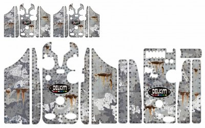 Winter camouflage rust  skins